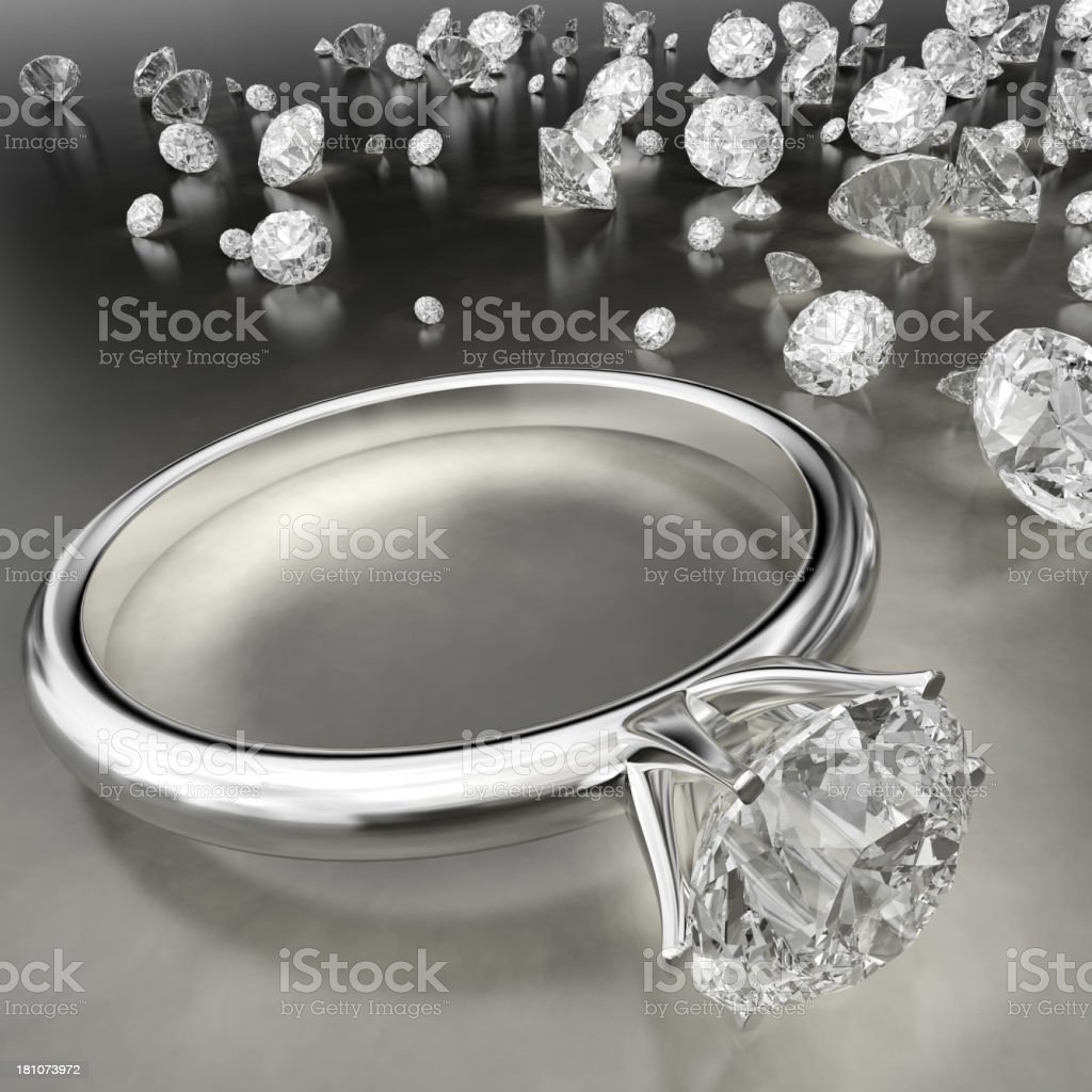Diamond Ring with Other Diamonds royalty-free stock photo