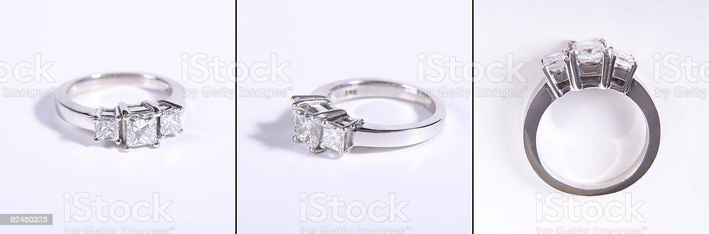 Diamond Ring X 3 royalty-free stock photo