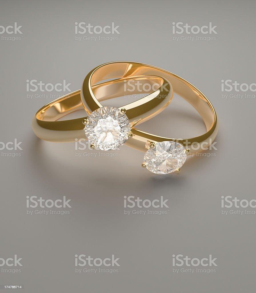 Diamond Rings Intertwined XL+ royalty-free stock photo
