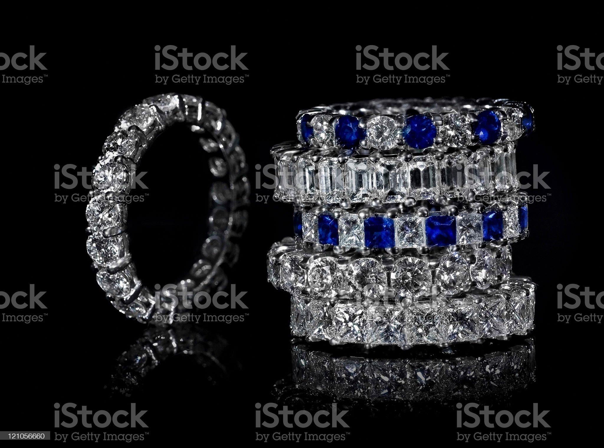 Diamond Rings royalty-free stock photo