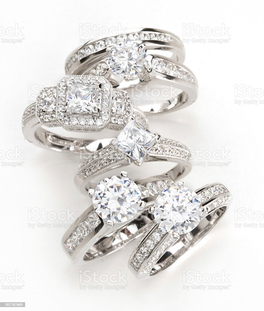 Diamond Rings royalty-free stock photo