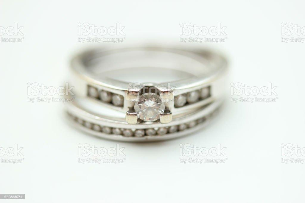 Diamond rings stock photo
