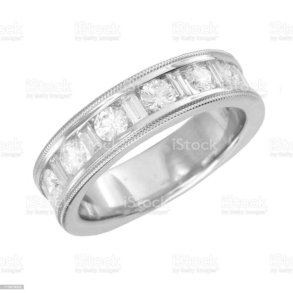 Diamond Round & Baguette royalty-free stock photo