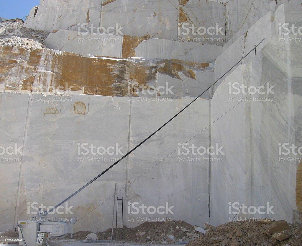 Diamond Saw on Marble - Carrara, Italia stock photo