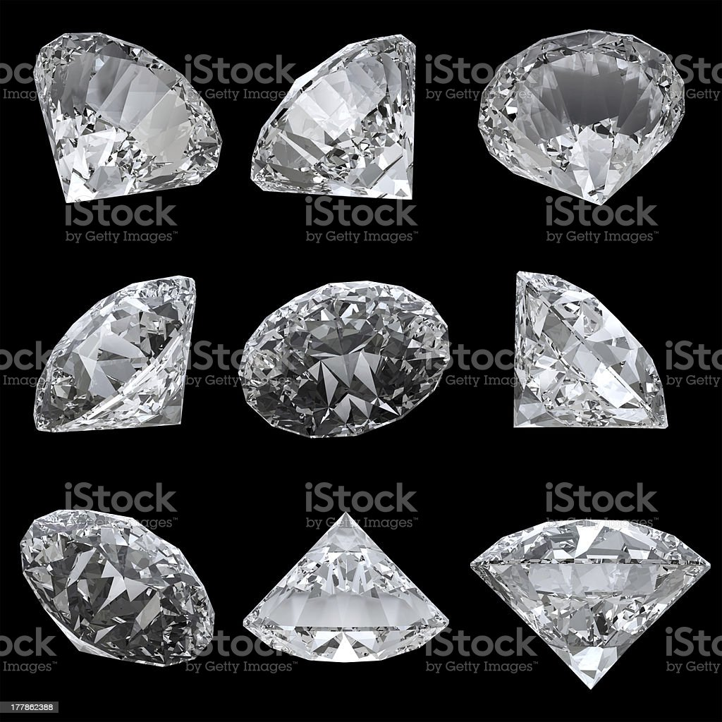 Diamond set royalty-free stock photo