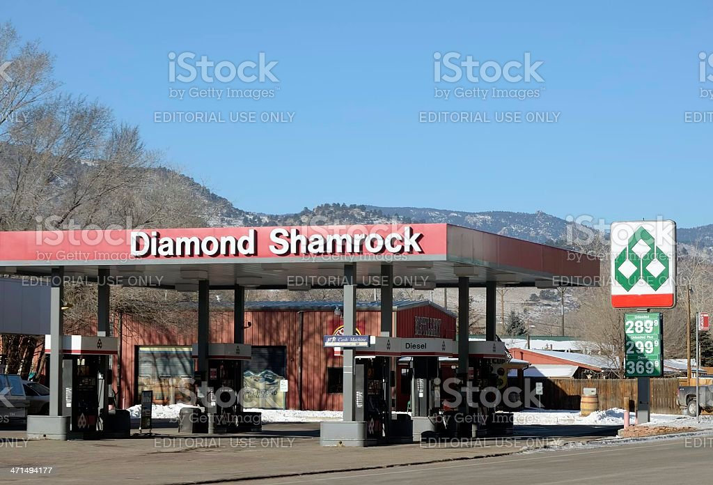 Diamond Shamrock royalty-free stock photo