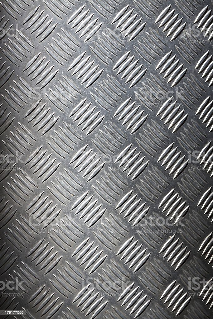 Diamond shape steel plate background, copy space stock photo