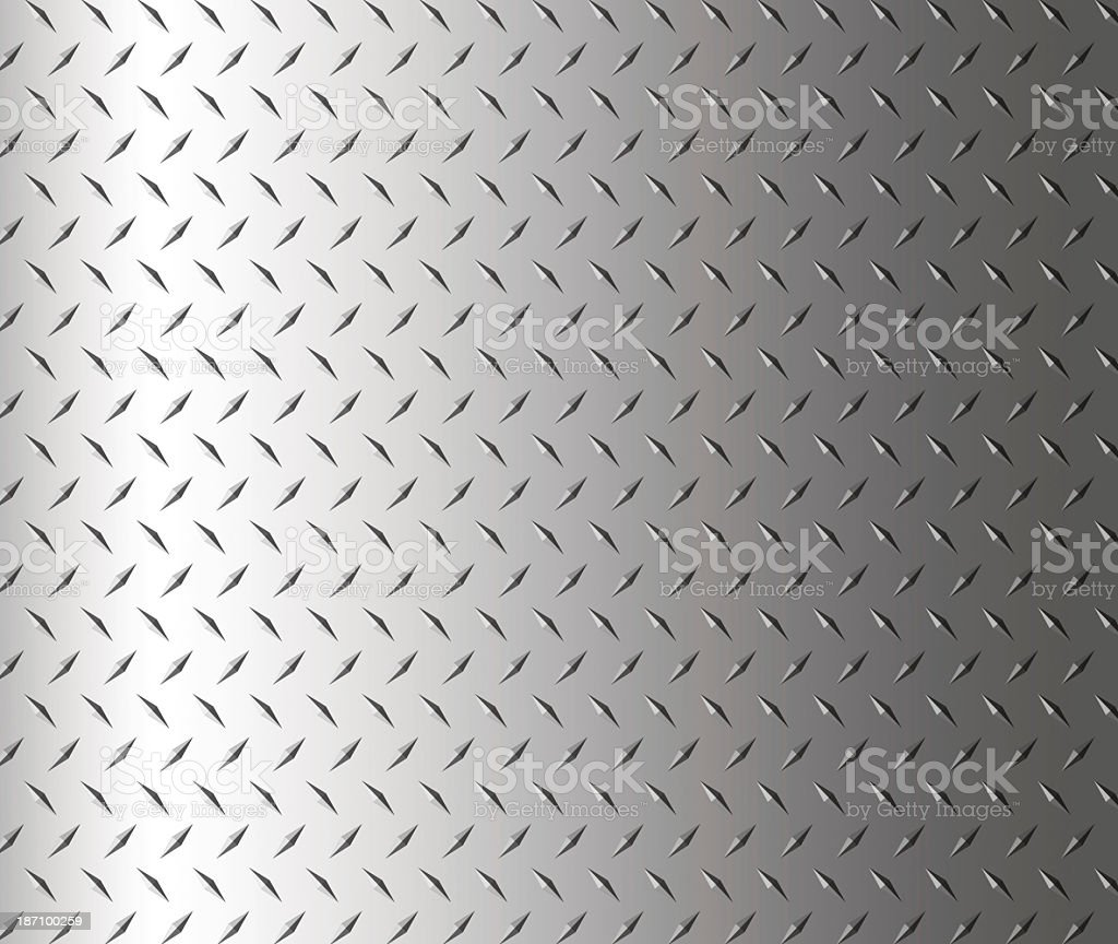 Diamond shape steel plate texture background, copy space royalty-free stock photo