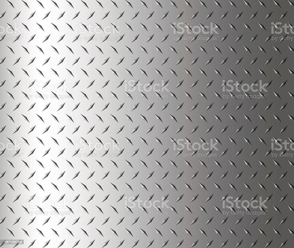 Diamond shape steel plate texture background, copy space stock photo