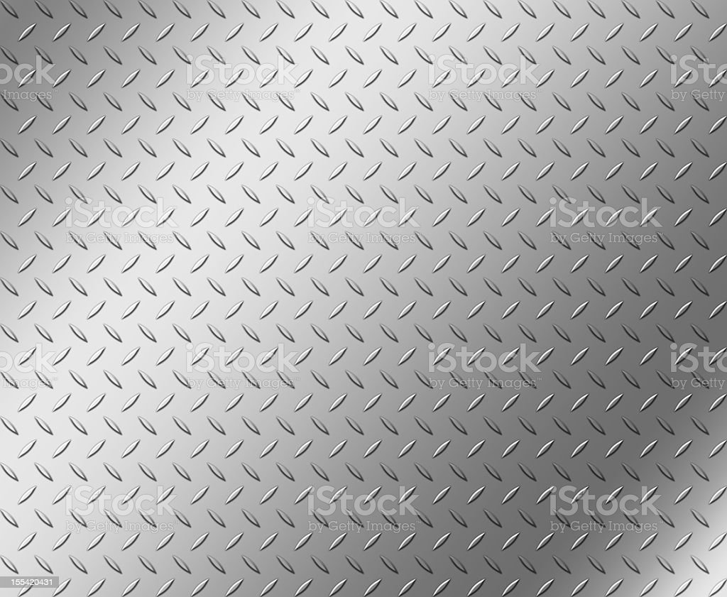 Diamond shape steel plate texture with copy space royalty-free stock photo