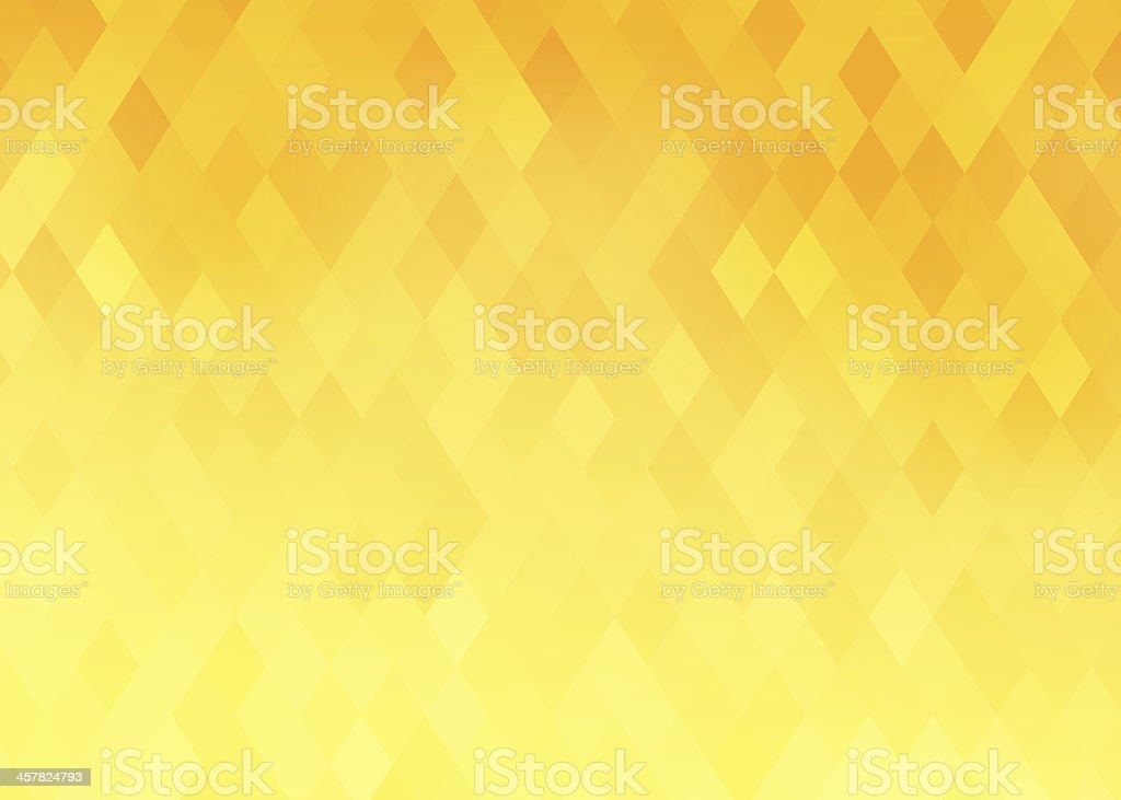 Diamond shaped background with yellow and orange gradient stock photo
