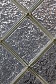 Diamond shaped glass privacy block