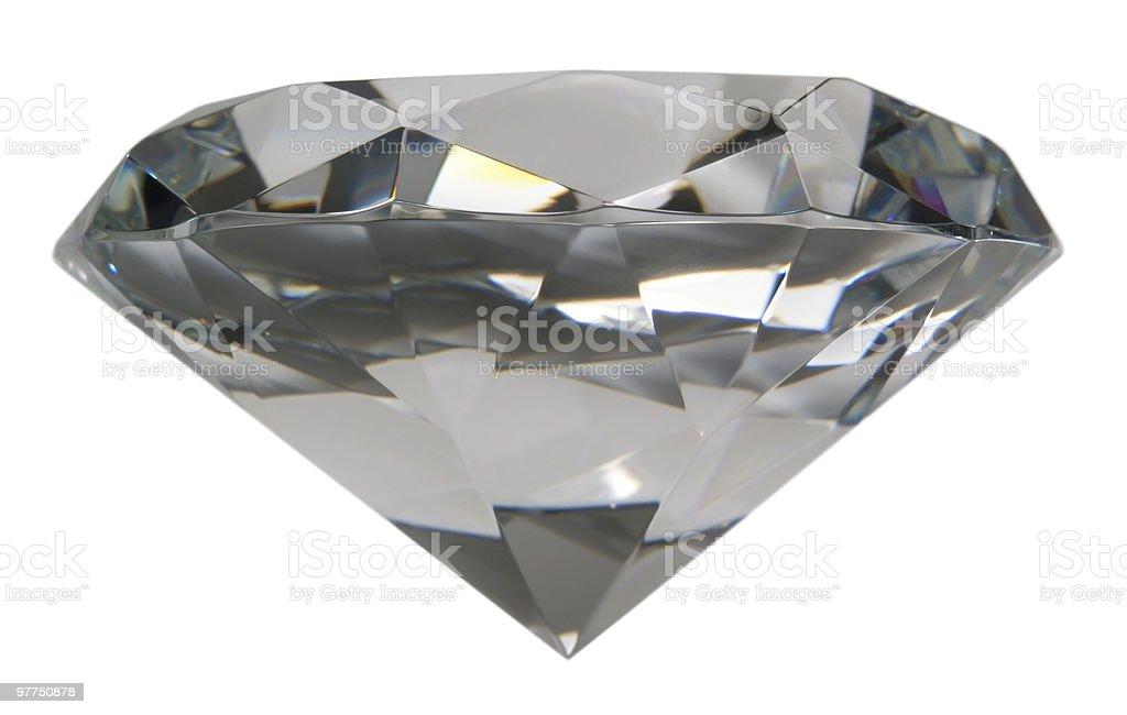 diamond sideways isolated on white royalty-free stock photo