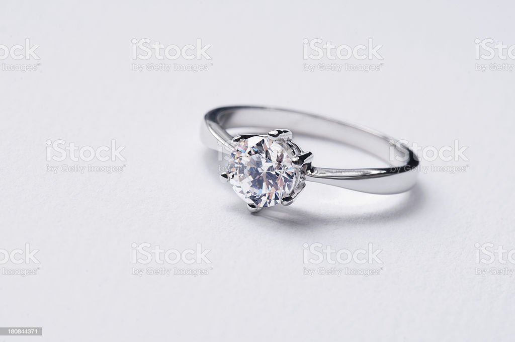 Diamond solitaire ring royalty-free stock photo