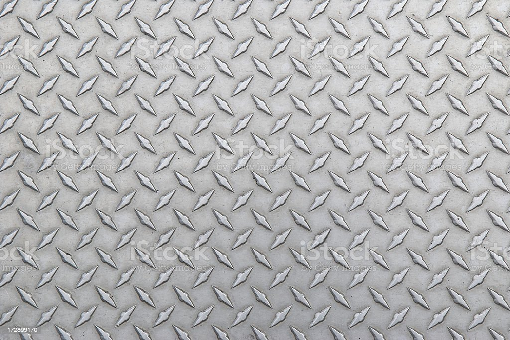Diamond Steel Tread Background Slightly Worn Horizontal stock photo
