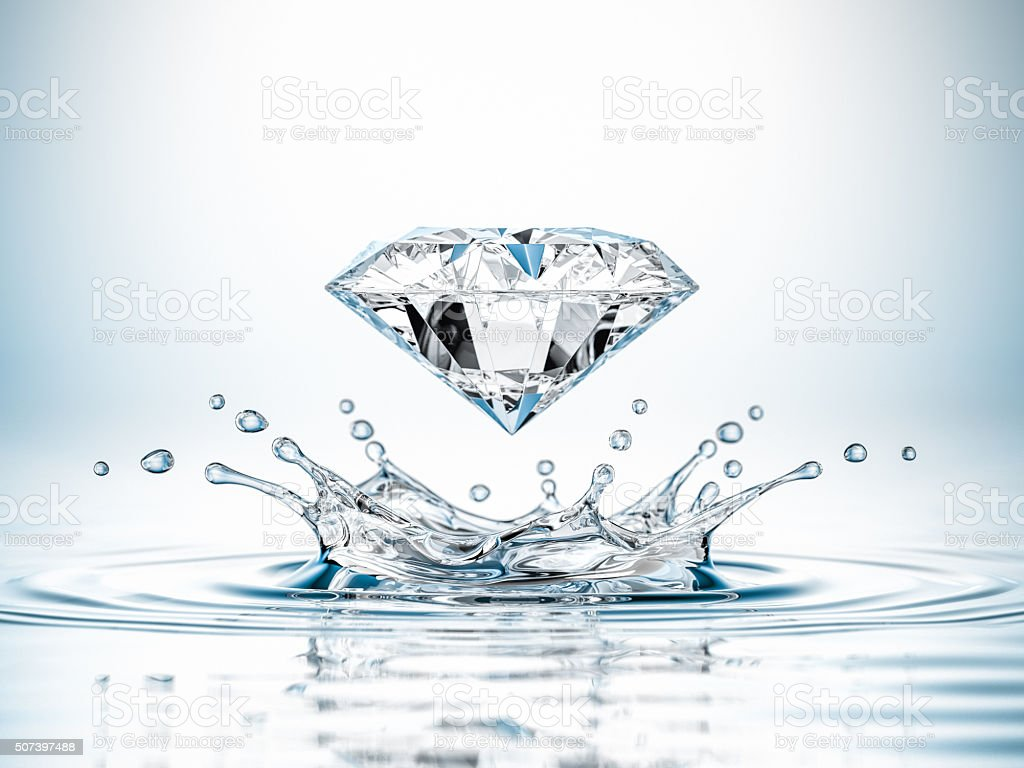 Diamond Water Splash stock photo