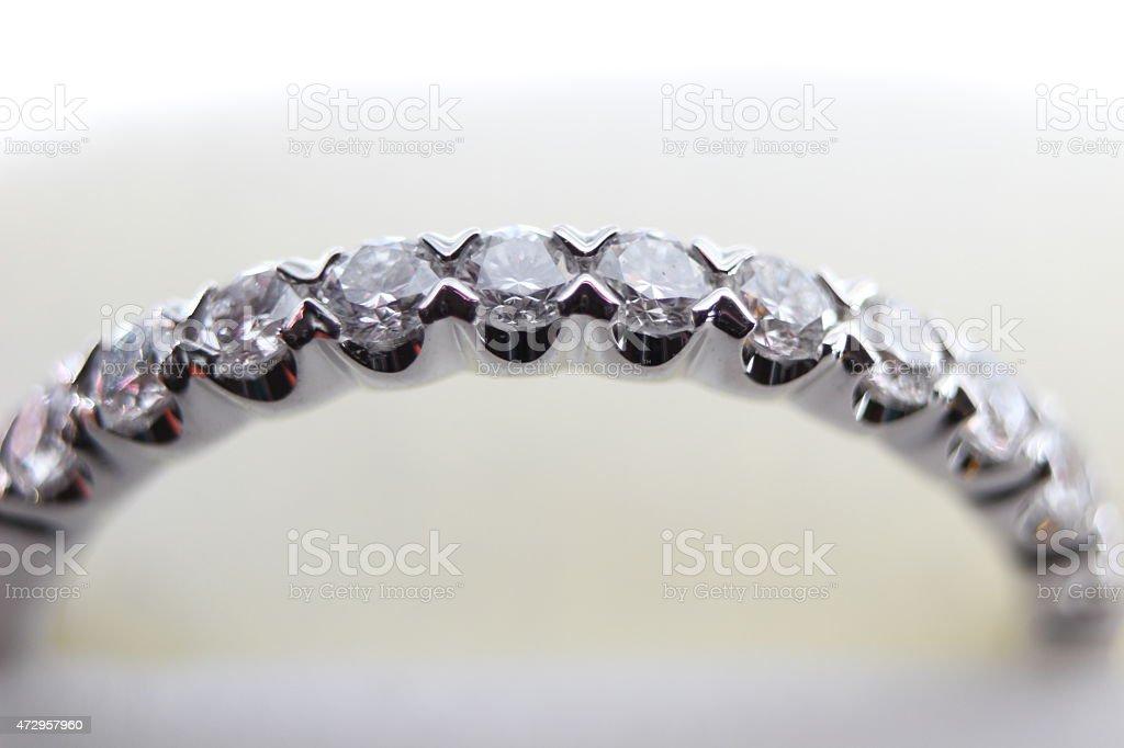 Matrimonio Diamond banda foto stock royalty-free