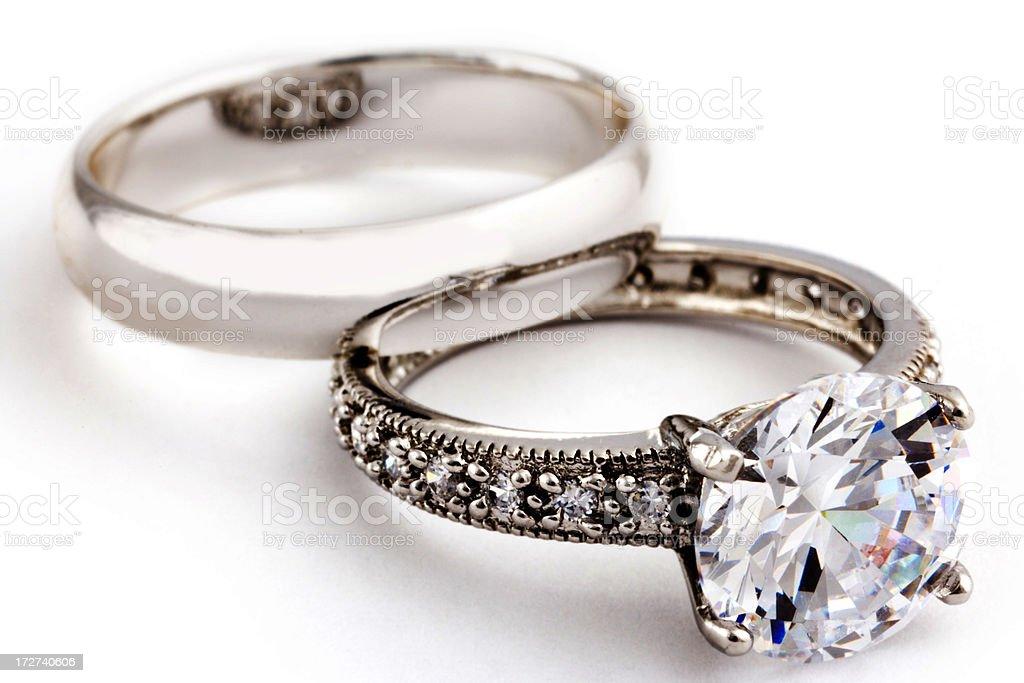 diamond wedding ring and band XXL royalty-free stock photo