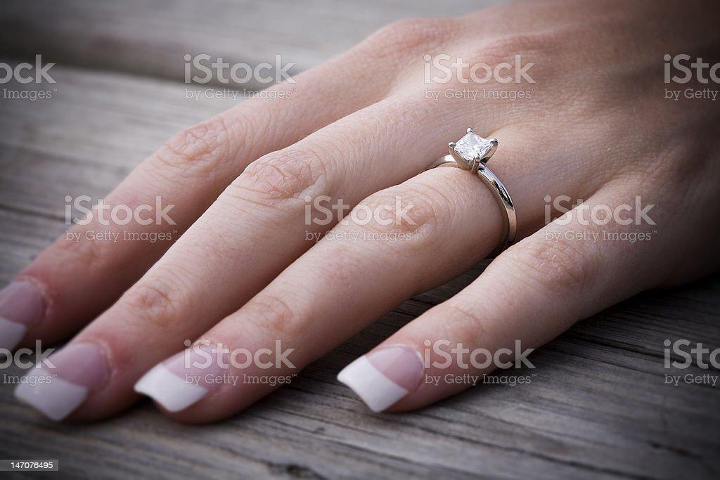 Diamond Wedding Ring royalty-free stock photo