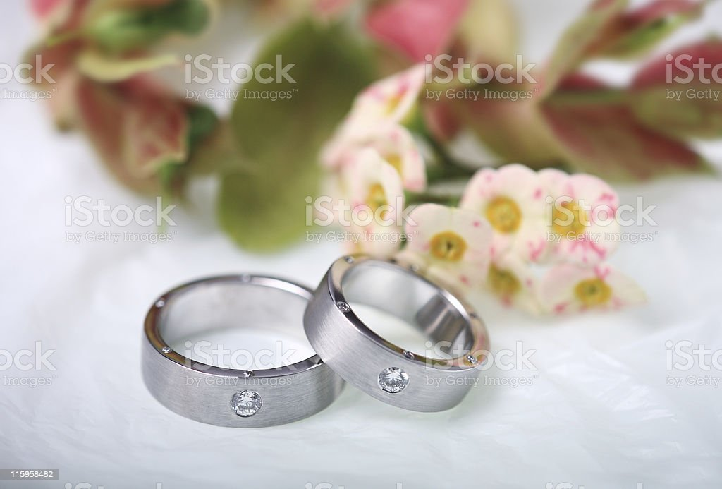 Diamond wedding rings royalty-free stock photo