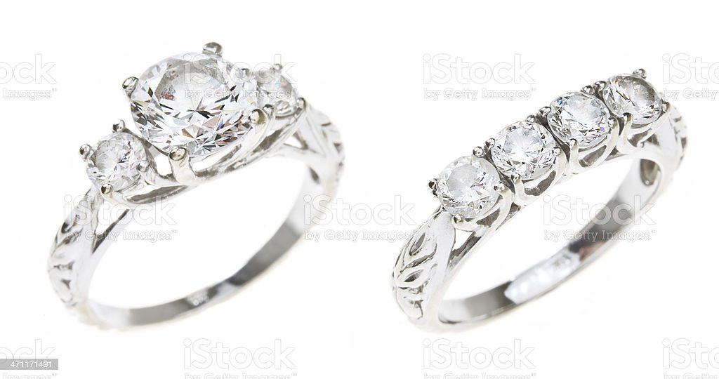 Diamond Wedding Set stock photo