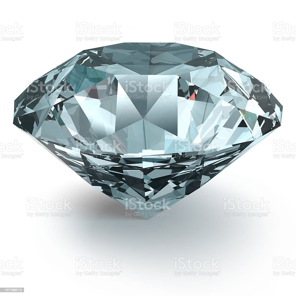 Diamond with Clipping Path royalty-free stock photo