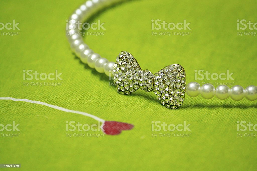 Diamond with LOVE forever royalty-free stock photo