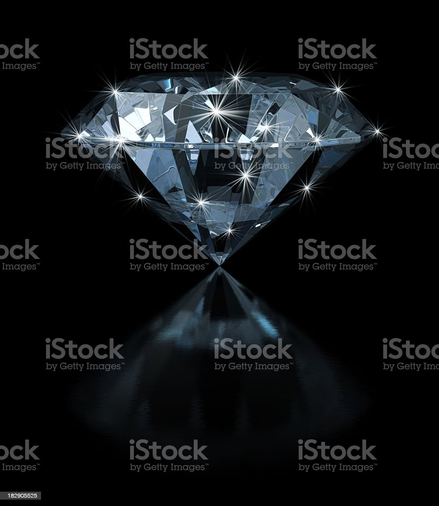 Diamond With Magic Sparks royalty-free stock photo