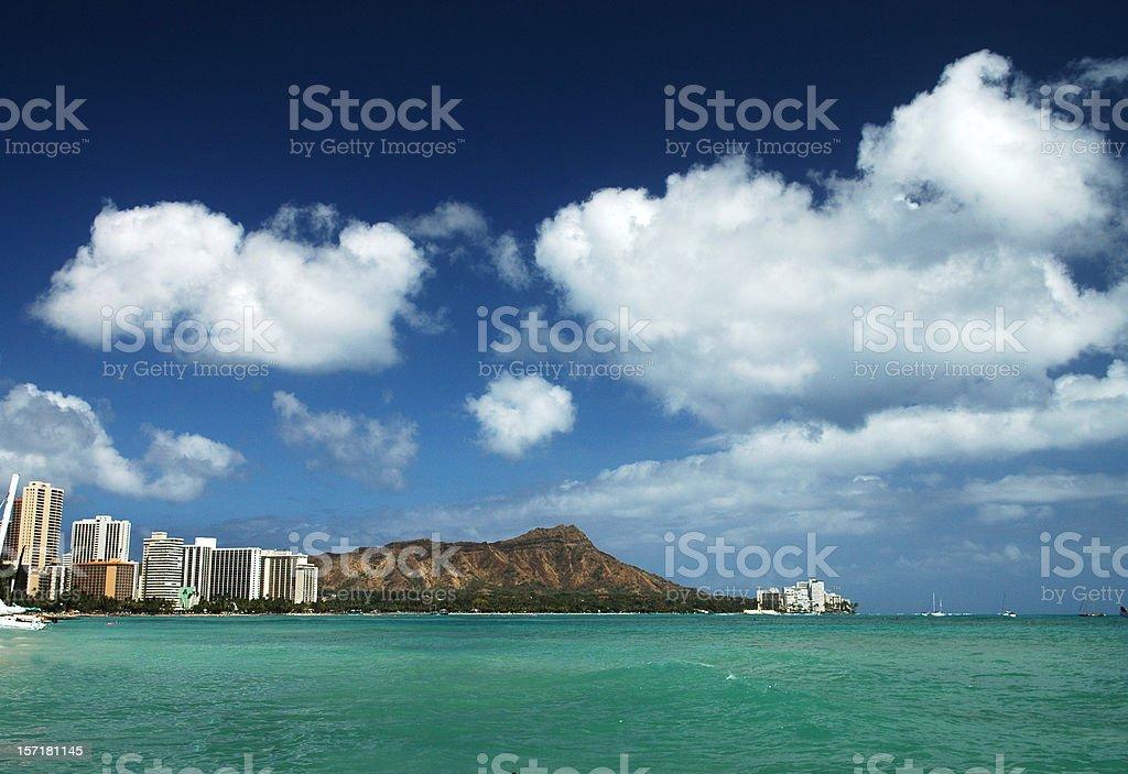 Diamondhead, Oahu royalty-free stock photo