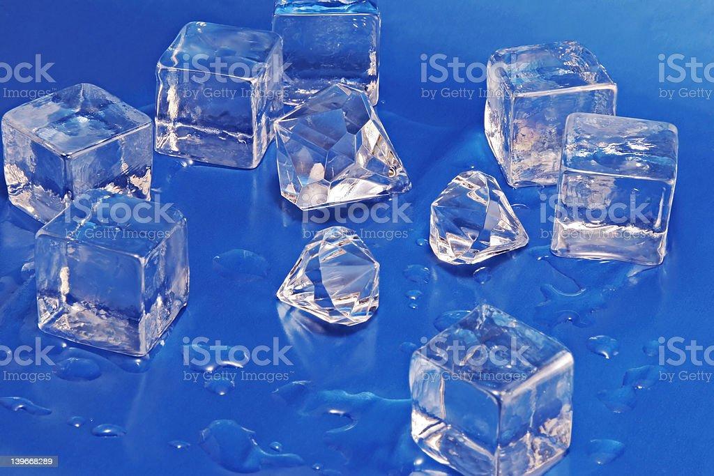 Diamonds and Ice stock photo