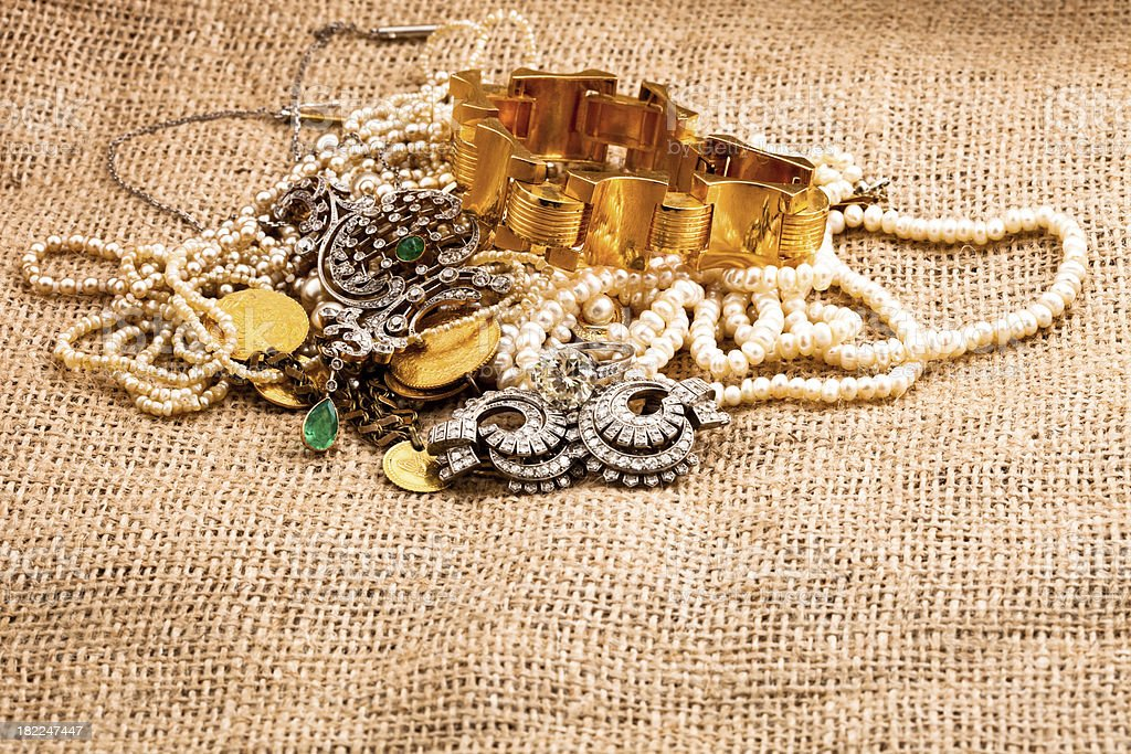 diamonds and  other jewlery royalty-free stock photo