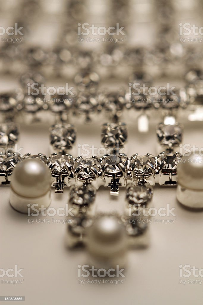 Diamonds and Pearls royalty-free stock photo
