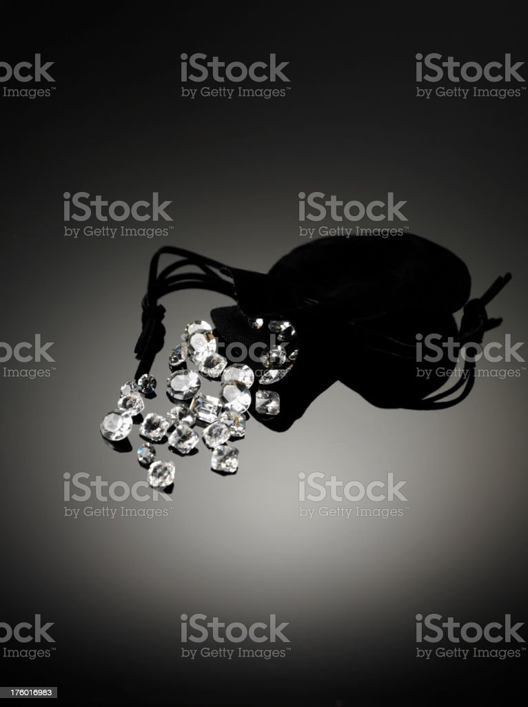 Diamonds and Pouch royalty-free stock photo