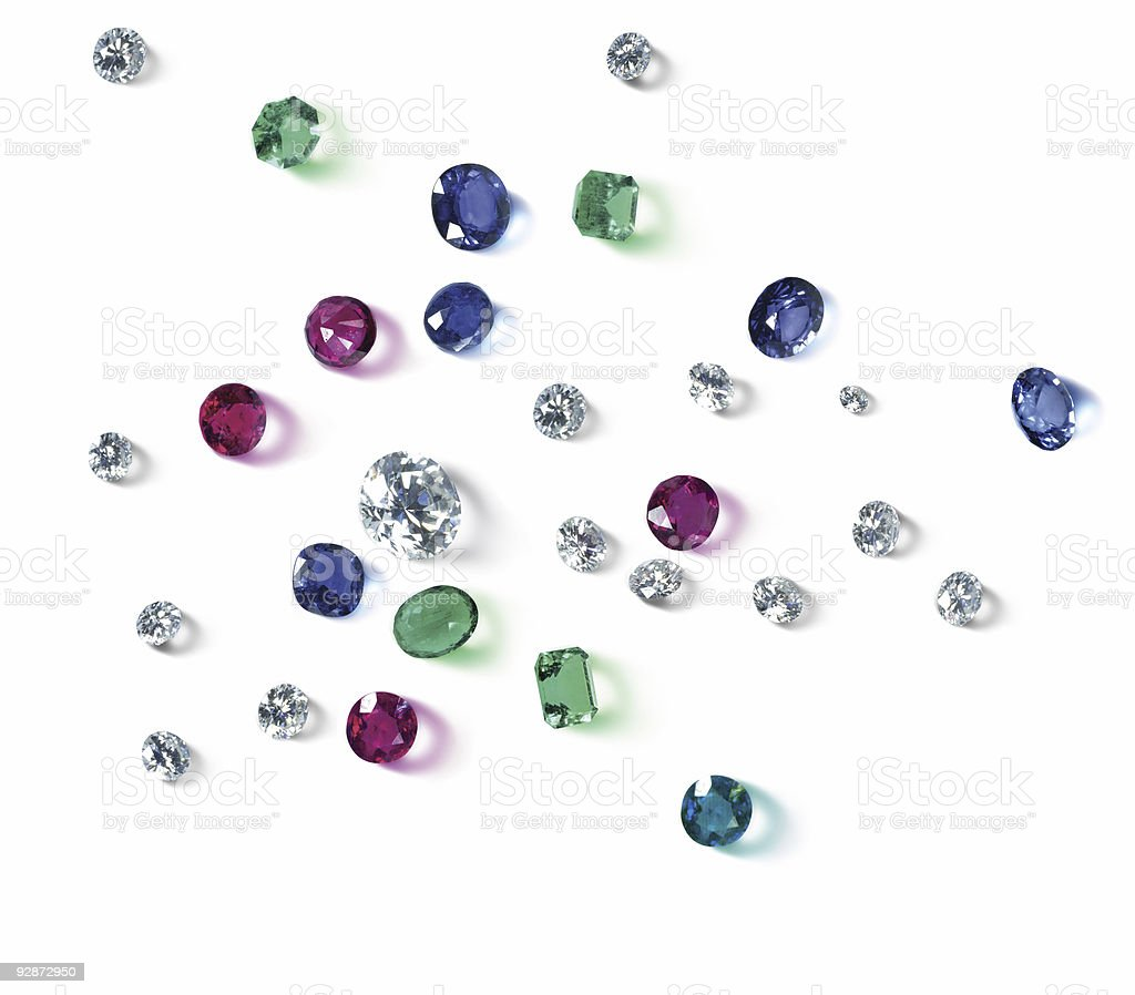 Diamonds are a girl's best friend royalty-free stock photo