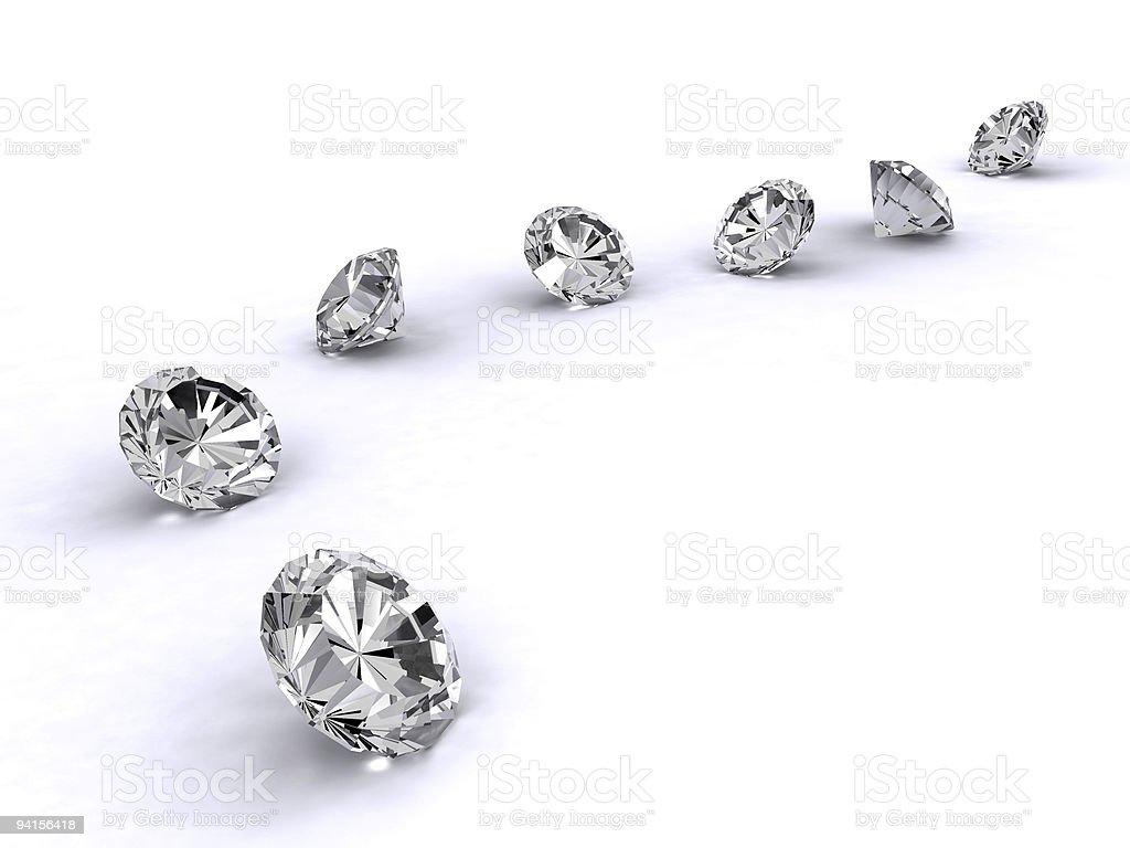 Diamonds arrangement path royalty-free stock photo