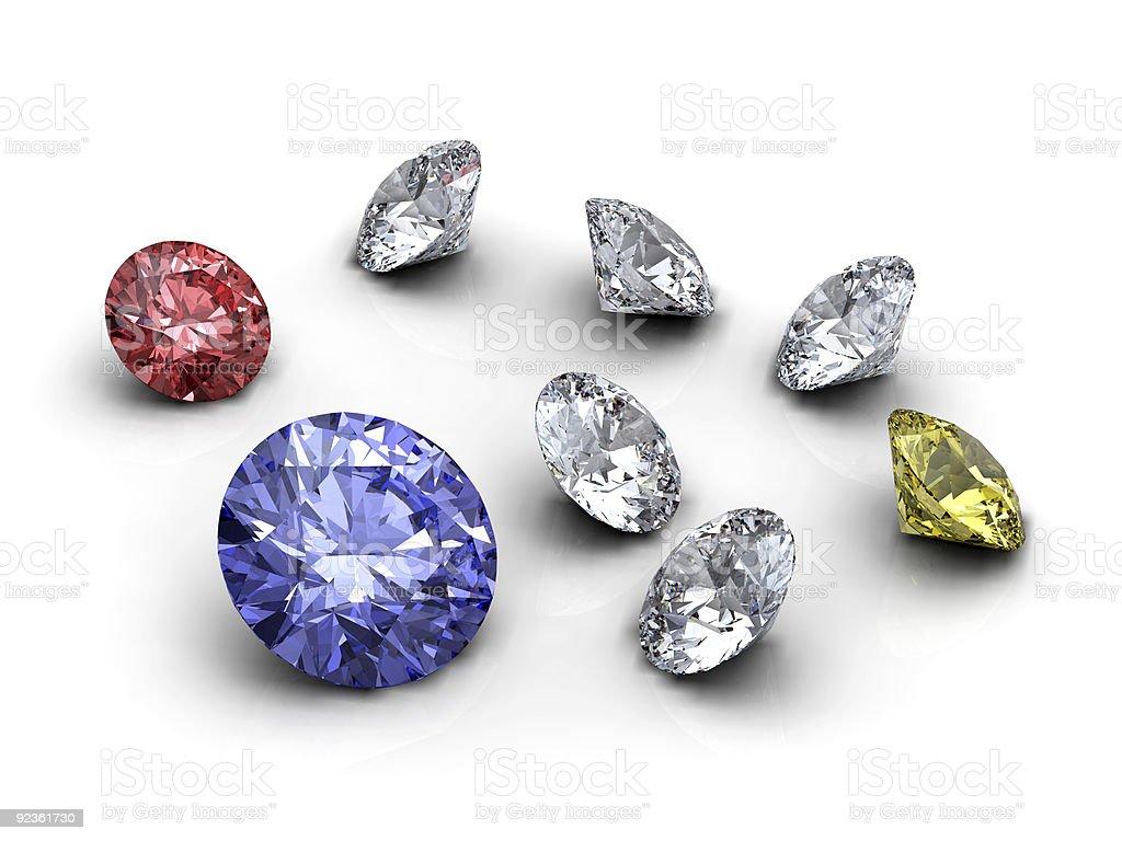 Diamonds collection royalty-free stock photo