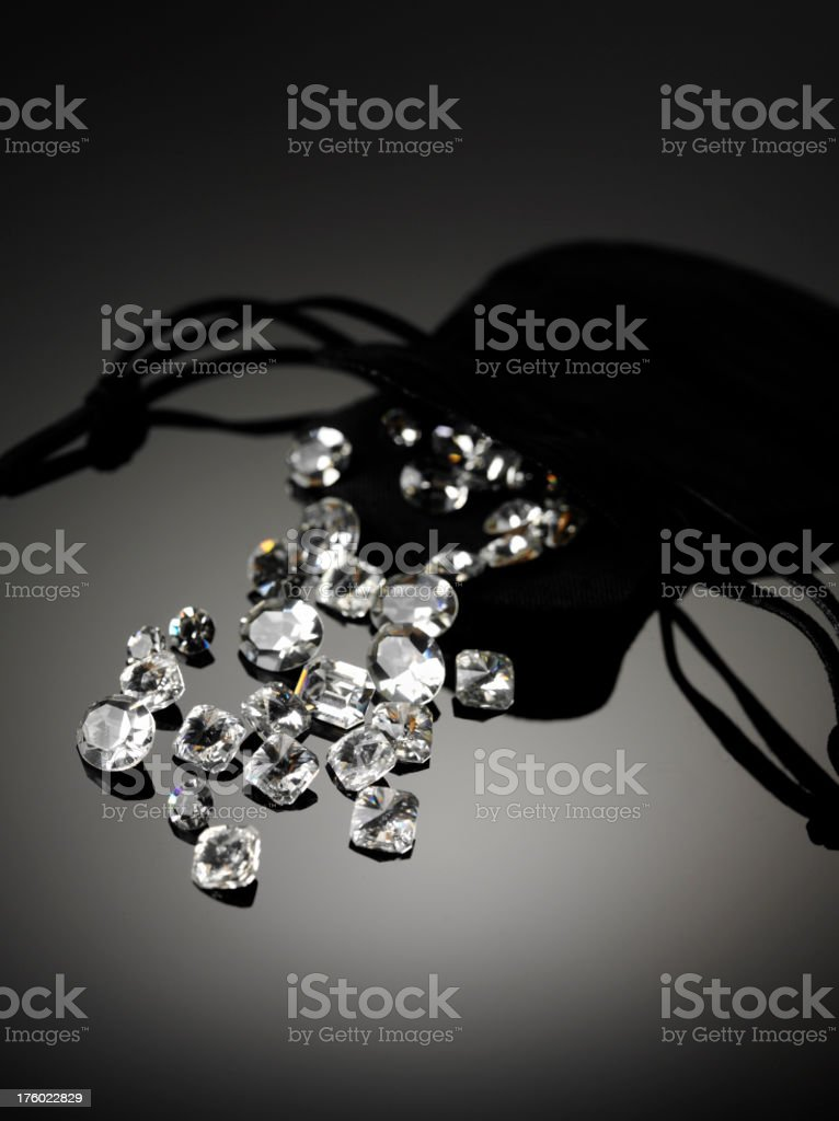 Diamonds Drawstring Bag royalty-free stock photo
