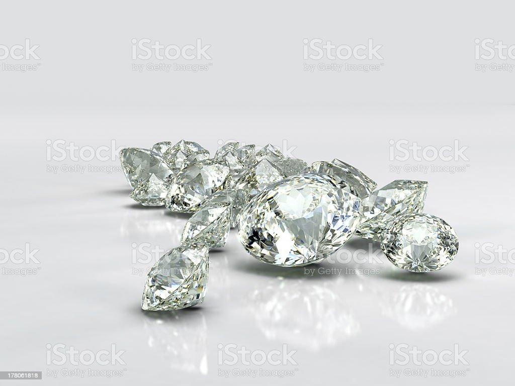 Diamonds jewel large group royalty-free stock photo