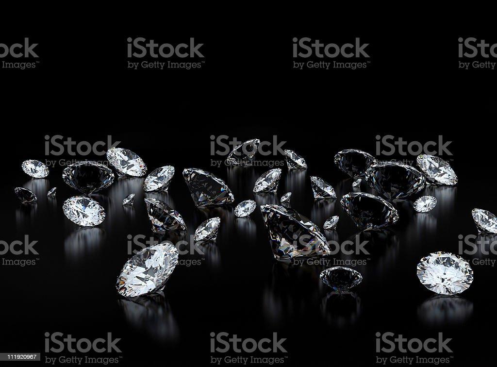 Diamonds on black royalty-free stock photo