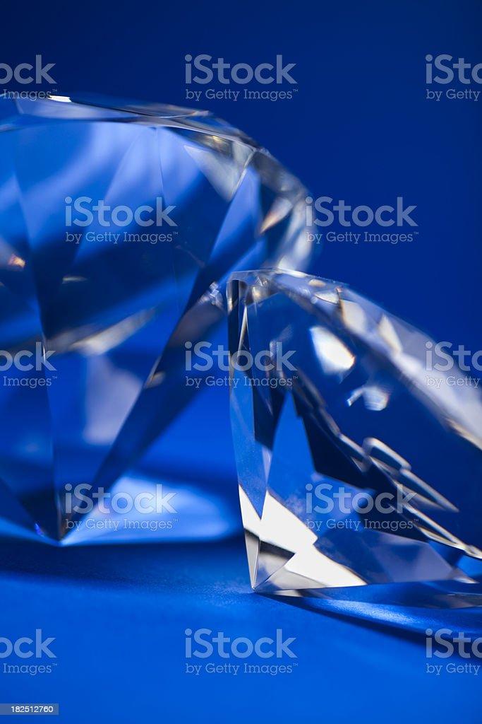 Diamonds on blue background royalty-free stock photo