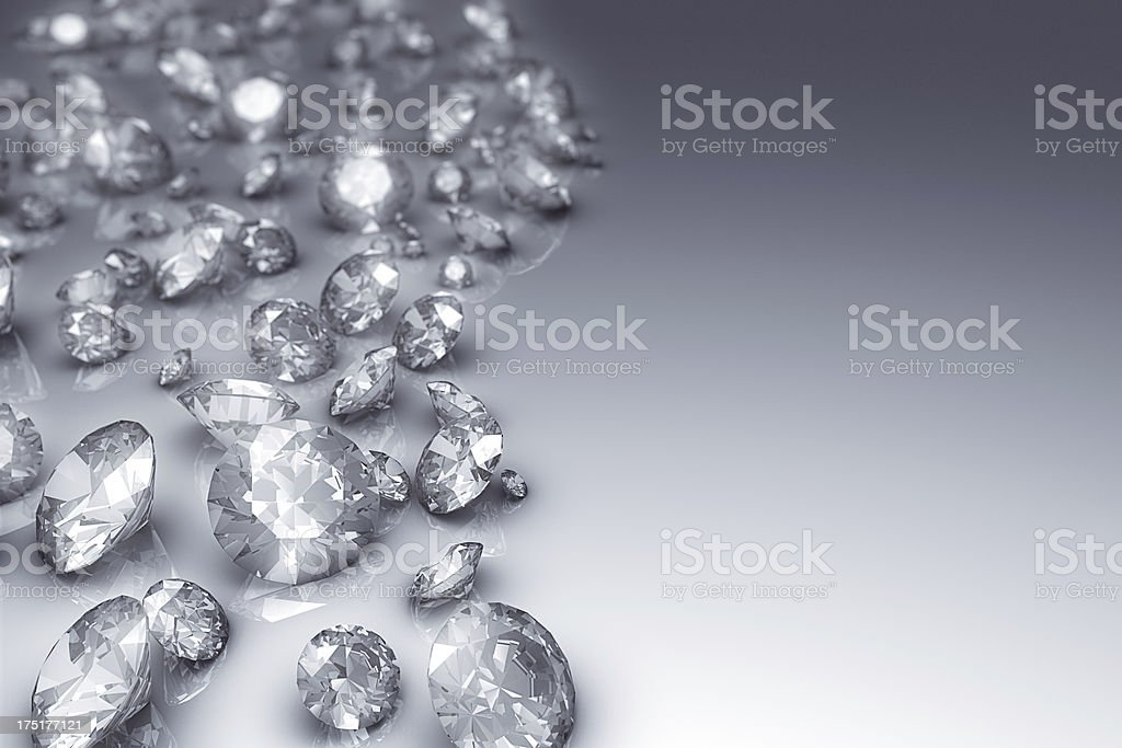 Diamonds on the side royalty-free stock photo