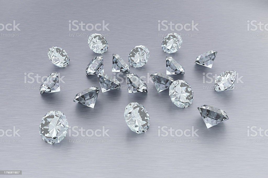 3D Diamonds royalty-free stock photo