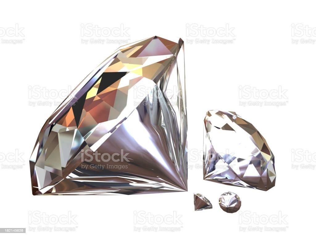 Diamonds royalty-free stock photo