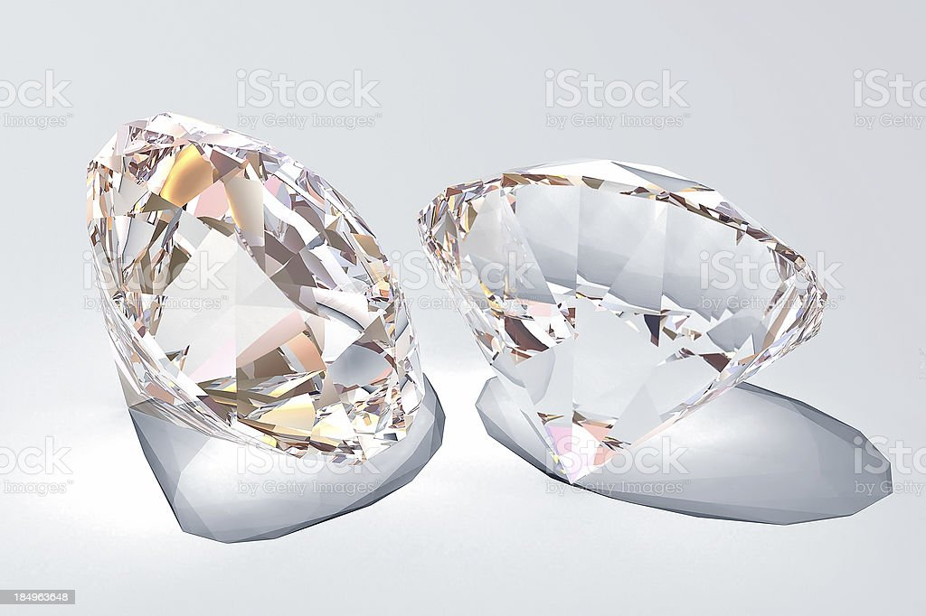 Diamonds (brilliant) stock photo