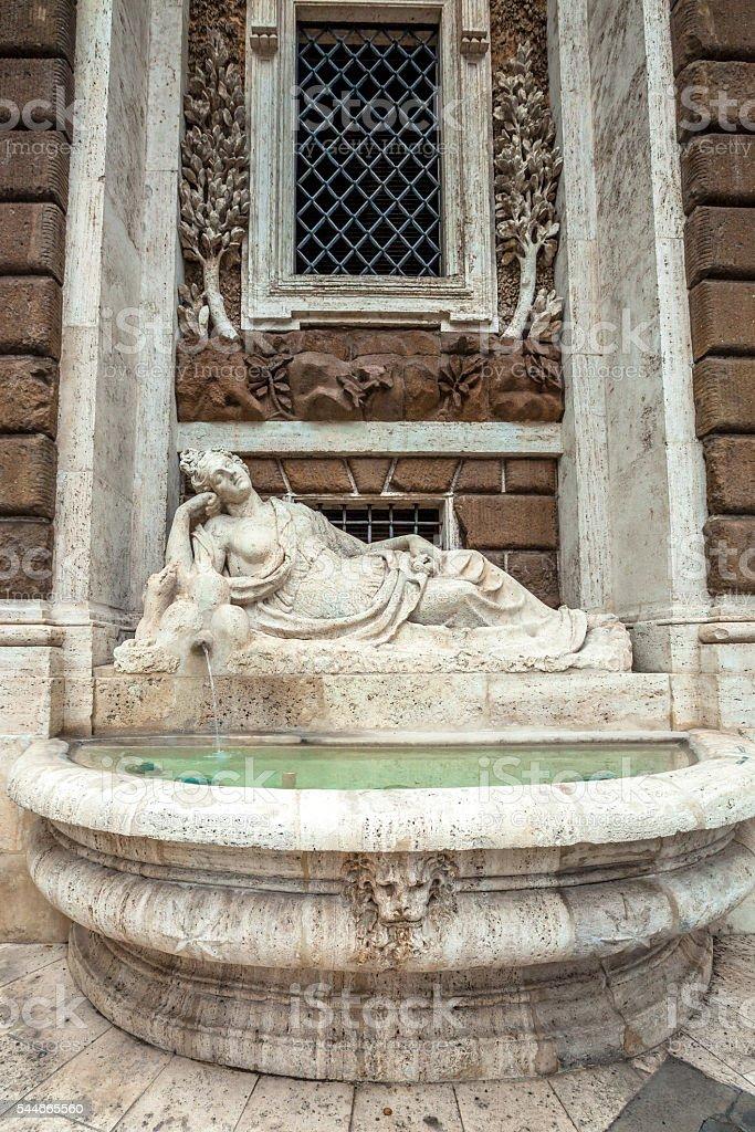 Diana goddess fountain stock photo