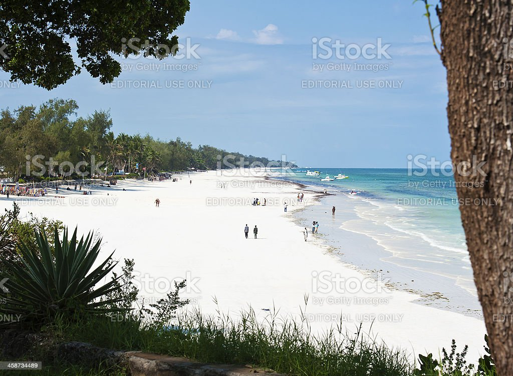 Diani Beach in Kenya stock photo