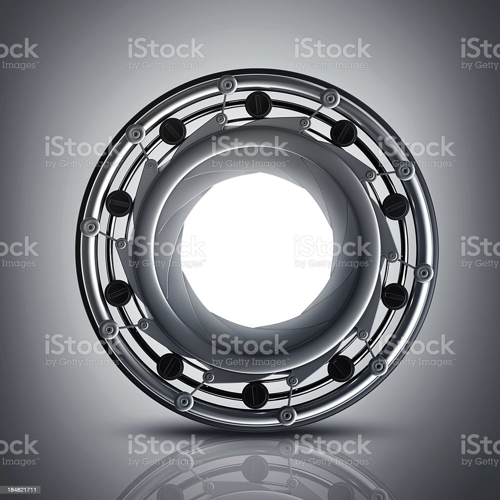 diaphragm camera mechanism royalty-free stock photo
