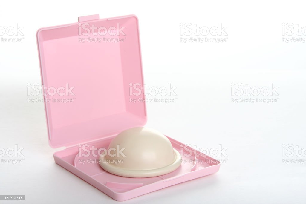 A diaphragm cup insert for birth control stock photo
