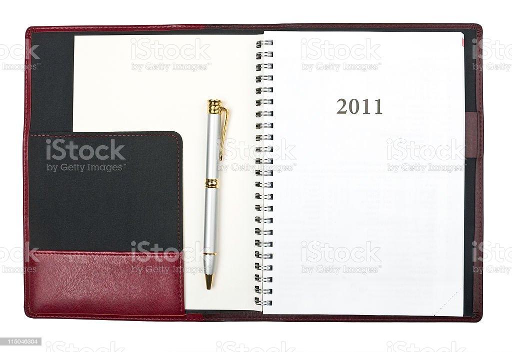 Diary 2011 royalty-free stock photo