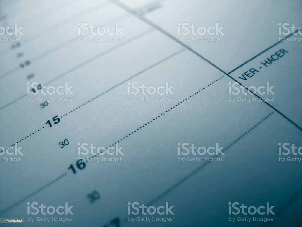 Diary / Calendar / Blue royalty-free stock photo